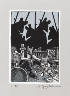 Artwork from Maus by Art Spiegelman Comic Book Characters, Comic Books Art, Comic Art, Book Art, Art Spiegelman, Graphic Novel Art, Bristol Board, Illustrators, Marvel