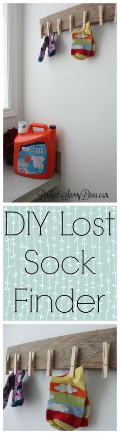 NEW DIY  * How To Decor Your Laundry Room - DIY Sock Finder  * #ad #TryMembersMark