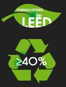 Cerdomus products meet the requirements of the LEED (Leadership in Energy and Environmental Design) standard: a set of sustainable building requirements which rank the energy and environmental efficiency of buildings. Effectively, it's a ratings system for green buildings. Under the LEED system, points are awarded for each sustainability requirement which is met. The point score determines the degree of certification awarded to the building. Cerdomus products win LEED points for containing o