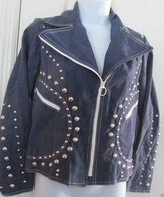 http://www.athenefashion.com/ebay/quick-ends-soon-womens-designer-vintage-gina-teresa-1970-denim-stud-motorcycle-jacket-blazer-8-m/ nice Quick Ends Soon WOMENS DESIGNER VINTAGE GINA TERESA 1970 DENIM STUD MOTORCYCLE JACKET BLAZER 8 M