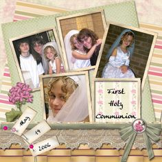 layouts for scrapbooking 1st communion | First Holy Communion - Digital Scrapbook Place Gallery