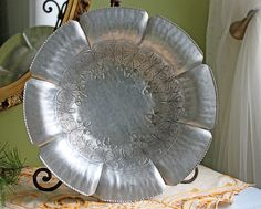 Antique Aluminum Bowl.  Hand Wrought by AnythingDiscovered on Etsy