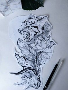 Lessons That Will Get You In The arms of The Man You love Tiger Tattoo Design, Tattoo Design Drawings, Tattoo Sketches, Tattoo Designs, Body Art Tattoos, Small Tattoos, Cool Tattoos, Leopard Tattoos, Animal Tattoos