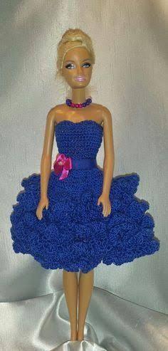 Resultado de imagem para jardineira de croche para barbie