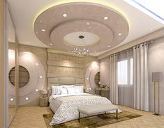 Bedroom on Behance New Ceiling Design, Plaster Ceiling Design, Ceiling Design Living Room, Bedroom False Ceiling Design, False Ceiling Living Room, Living Room Designs, Bedroom Pop Design, Bed Design, House Design