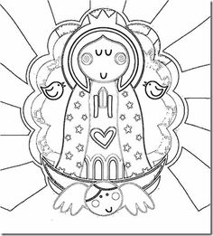lady of guadalupe coloring page for kids see more sgblogosfera amigos de jess virgen
