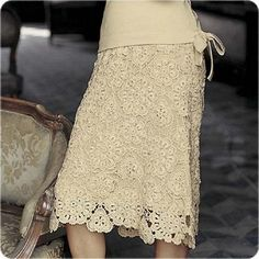 Elegant Skirt free crochet graph pattern