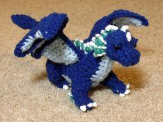Crochet Sea Dragon Blue Plush Coradon by BuggabeeBaubles on Etsy