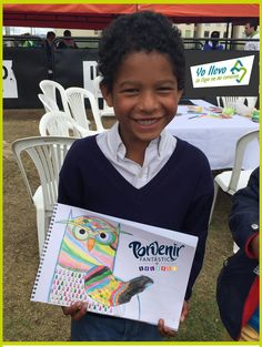 Los niños de #Porvenir55 nos muestran su obra en la cartilla de #LaCajaEnMiCorazón