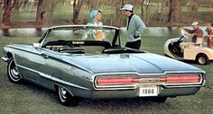 1966 Thunderbird convertible - rear showing sequential-flashing ribbon taillights...