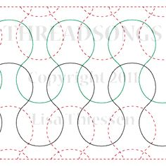"Chain Mailie - Paper - 6"" - Quilts Complete - Continuous Line Quilting Patterns"