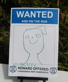 Police Party Wanted Poster Coloring-in Activity                                                                                                                                                                                 More
