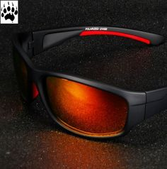 Red Back Polarized Sunglasses Stylish Sunglasses, Polarized Sunglasses, Oakley Sunglasses, Eyewear, Free Shipping, Survival, Camping, Red, Rouge