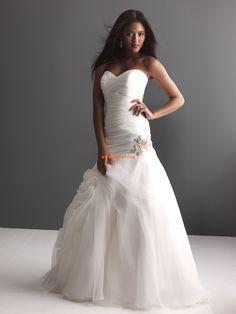 Hjärtformad Elegant & Lyxig Sommar Bröllopsklänningar 2014