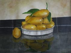 Still life painting on paper