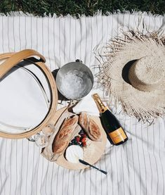 champagne breakfast anyone? our Pioneer Travel Towel makes a perfect picnic blanket too! Picnic Birthday, 50th Birthday, Birthday Ideas, Champagne Breakfast, French Summer, The Beach People, Home Recipes, Adventure Is Out There, Life Is Beautiful