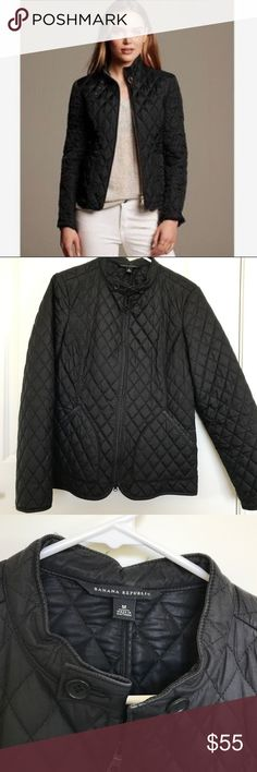 Banana Republic black quilted jacket Quilted jacket with pockets. Perfect for fall! Banana Republic Jackets & Coats