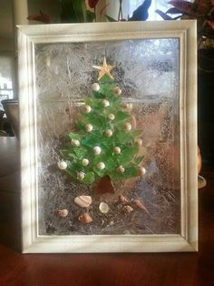 My Sea Glass Christmas Tree. Just took a bunch of loose sea glass ...