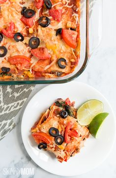 Enchilada Lasagna: Mexican cuisine meets an Italian classic. (by @thepickyeater)