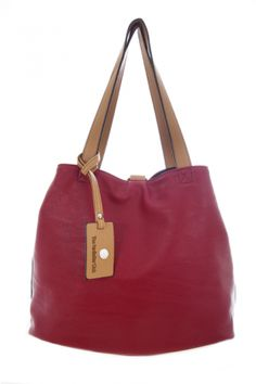 Bags :: MAISON Reversible Shopper in Red & Black - The Redletter Club $120
