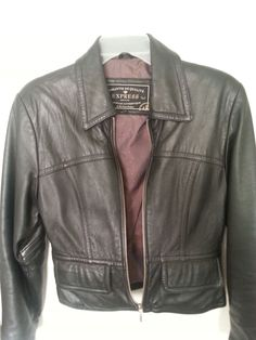 Express Women's Leather Jacket. Dark Brown XSm Excellent Condition. Reduced! #Express #Motorcycle