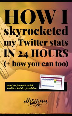 Learn the ONE sentence that spawned a period of research and reorganization that boosted my Twitter stats by over 200% in 24 hours... plus snag my own personal social media schedule! Click through to read and pin this for later!