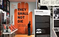 Design for an exhibition that looks at New York City's history as a focal point for activism. Exhibition Display, Museum Exhibition, Exhibition Space, Environmental Graphics, Environmental Design, Display Board Design, Display Ideas, Museum Education, Design Museum