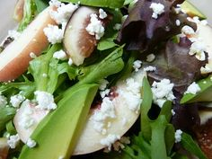 Figgy Peach Salad with Avocado & Goat Cheese