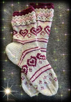 Hjemmestrikket sokker i DSA Sterk