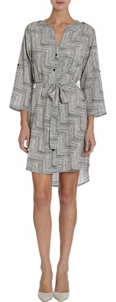 Barneys New York Zebra Shirt Dress at Barneys.com
