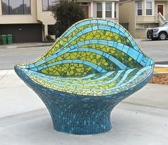 Mosaic sculpture at Balboa Park in SF by Rachel Rodi