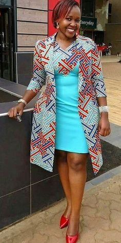 Beautiful african print office wear, African fashion, Ankara, kitenge, African w. African Fashion Ankara, Ghanaian Fashion, Latest African Fashion Dresses, African Dresses For Women, African Print Dresses, African Fashion Designers, African Print Fashion, Africa Fashion, African Attire