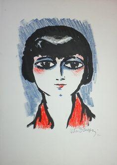 Kees van Dongen Femmes Maud Loty La Parisienne Lithografie genummerd 1927