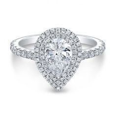 Absolutely STUNNING Pear Diamond Double Halo Engagement Ring from The One Collection only at Wedding Day Diamonds