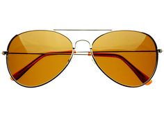 Polarized Classic Metal Aviator Sunglasses Brown A776