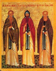 Chariton the Confessor, Barlaam, abbot of Khoutyn, Sergius of Radonezh
