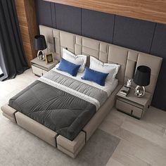 Best Nightstand Ideas for Small Spaces Bedroom Cupboard Designs, Kids Bedroom Designs, Kids Bedroom Sets, Large Bedroom, Luxury Bedroom Design, Bedroom Closet Design, Bed Headboard Design, Headboards For Beds, Bedroom Furniture Design