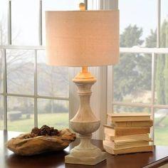 $27.99 Whitewash Driftwood Table Lamp | Kirklands