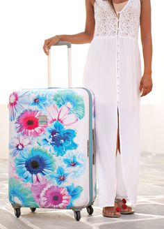 Bright Botanica - Flower suitcase by Travellab