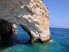 Blue caves, Zakynthos, Greece. Rock/mountain formation over sea. *dragonnovel inspiration*