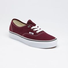 Avery's shoes are red. Vans seem to work with the character's love of simple clothing.