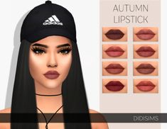 sims 4 cc // custom content makeup // the sims resource // Pralinesims' Margret . The Sims 4 Skin, The Sims 4 Pc, Sims Four, Sims 3, Sims 4 Mm Cc, Los Sims 4 Mods, Sims 4 Game Mods, Herbst Bucket List, Maybelline