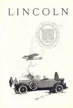1926 Lincoln Sport Phaeton Motor Car Auto print ad