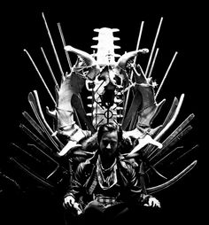 Detailed shot of Linkin Parks 'Iridescent' music video: Mike Shinoda sitting on some kind of  throne - looks so cool! :-)