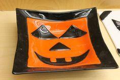 Halloween fused glass bowl