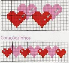 Thrilling Designing Your Own Cross Stitch Embroidery Patterns Ideas. Exhilarating Designing Your Own Cross Stitch Embroidery Patterns Ideas. Cross Stitch Bookmarks, Cross Stitch Heart, Cross Stitch Borders, Crochet Borders, Mini Cross Stitch, Crochet Chart, Cross Stitch Designs, Cross Stitching, Cross Stitch Embroidery