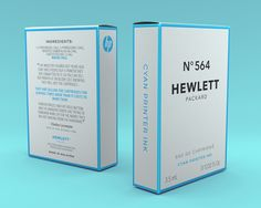 Student: Hewlett Packard - N°564 - The Dieline - A pretty funny set of packaging playing on how expensive printer ink is.