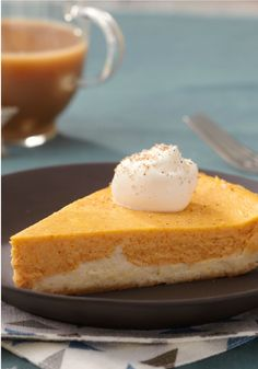 Double-Layer Pumpkin Cheesecake – Don't even think of waiting until Thanksgiving to make this pumpkin cheesecake recipe. It's so delicious, you'll want to enjoy it more than just once a year!