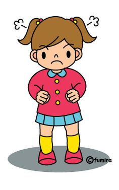 怒る女の子(カラー) Thailand Language, Safety Pictures, Animation Schools, Sequencing Pictures, Community Workers, School Clipart, Character Design Animation, Feelings And Emotions, Drawing For Kids