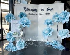 Wedding letter Paper flowers